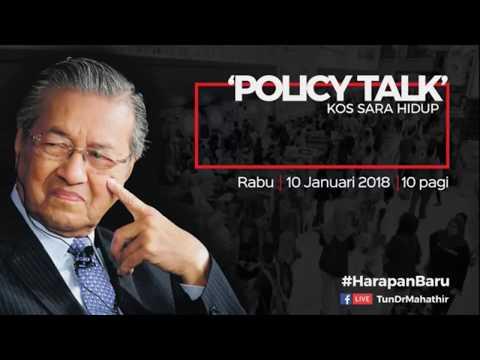 Dr. Mahathir Kos Sara Hidup   Policy Talk 2018