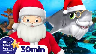 Baby Shark Christmas! | LBB Christmas Songs | ABC's Baby Nursery Rhymes - Sing with Little Baby Bum