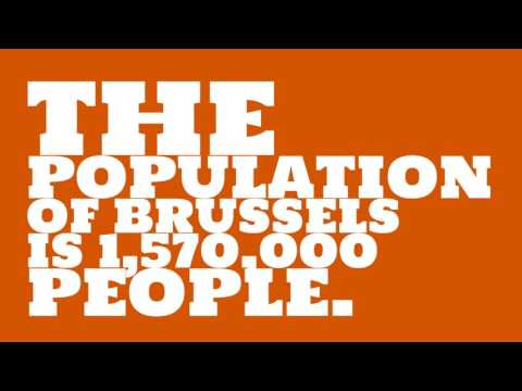 What is the land area of Brussels?