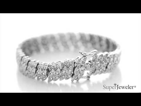 d07d81149 Tennis Bracelet | Diamond Tennis Bracelet | 2 Carat Diamond Tennis Petal  Bracelet, Platinum Overlay, 7 Inches | Best Jewelry Deals