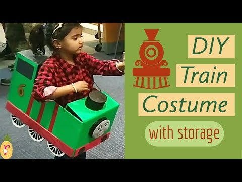 DIY Percy Train Costume with storage | DIY Halloween Costume for kids