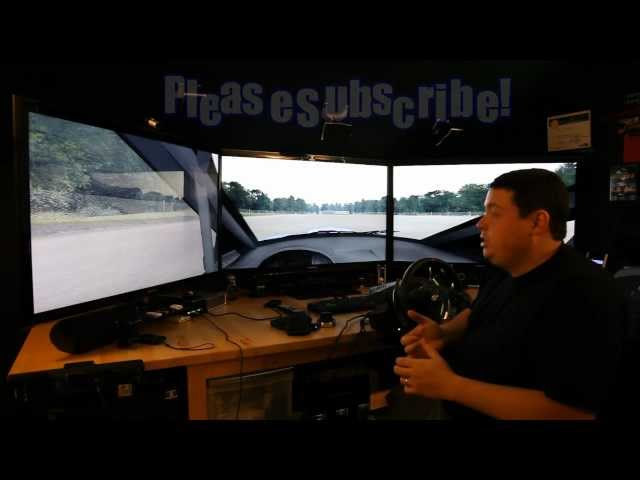 Richard Burns Rally + Mods on nVidia Surround Man Cave Setup