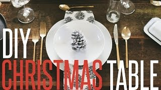 Diy Christmas Table Setting