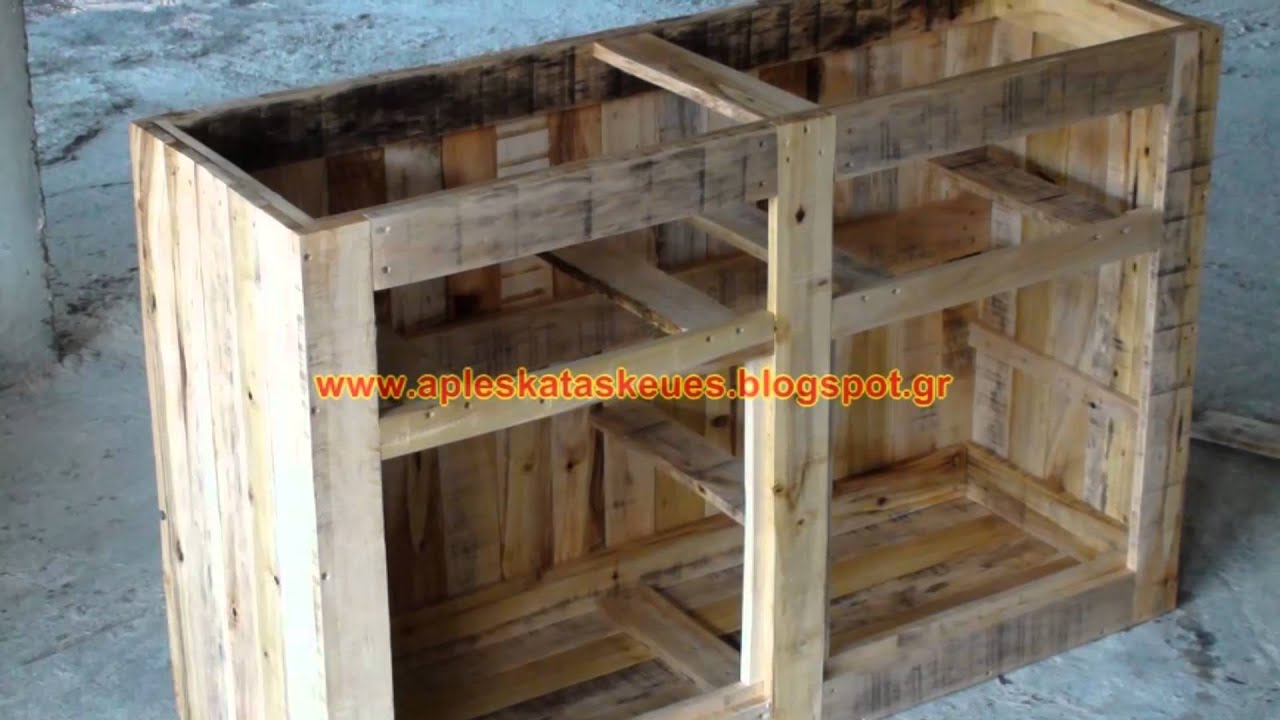 Pallet sideboard cabinet youtube