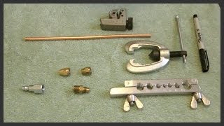 Using a copper tube flaring tool