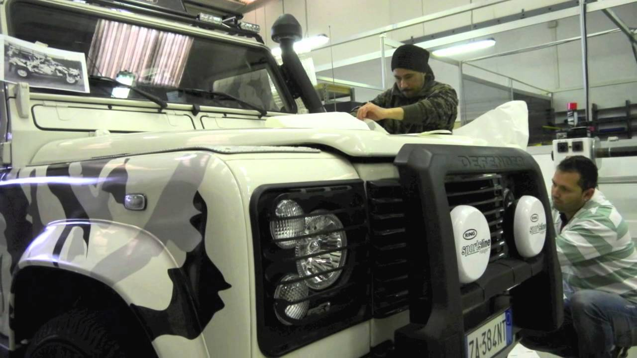 Land Rover Car Wrapping Youtube