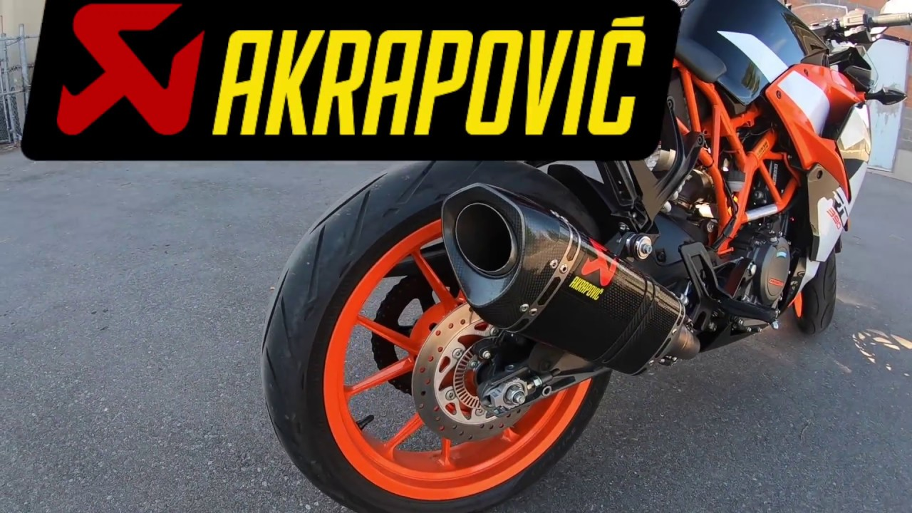 review akrapovic exhaust 2017 ktm rc 390 youtube. Black Bedroom Furniture Sets. Home Design Ideas