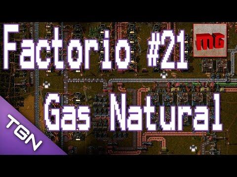 Factorio #21 - Gas Natural y plano de la nueva estación.