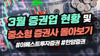 3월 증권업 현황 및 중소형 증권사 돌아보기(애톡쇼.주…