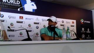 Rory Mcilroy announcing Rickie Fowler going to play at the Irish Open