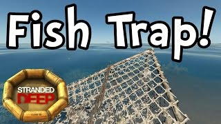 Как сделать ловушку для рыбы (fish trap) в stranded deep