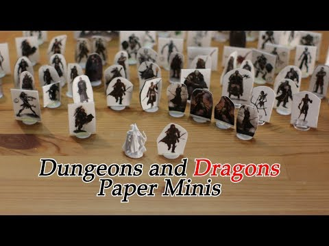 How to make Dungeons and Dragons Paper Miniatures | D&D Pathfinder Warhammer Minis