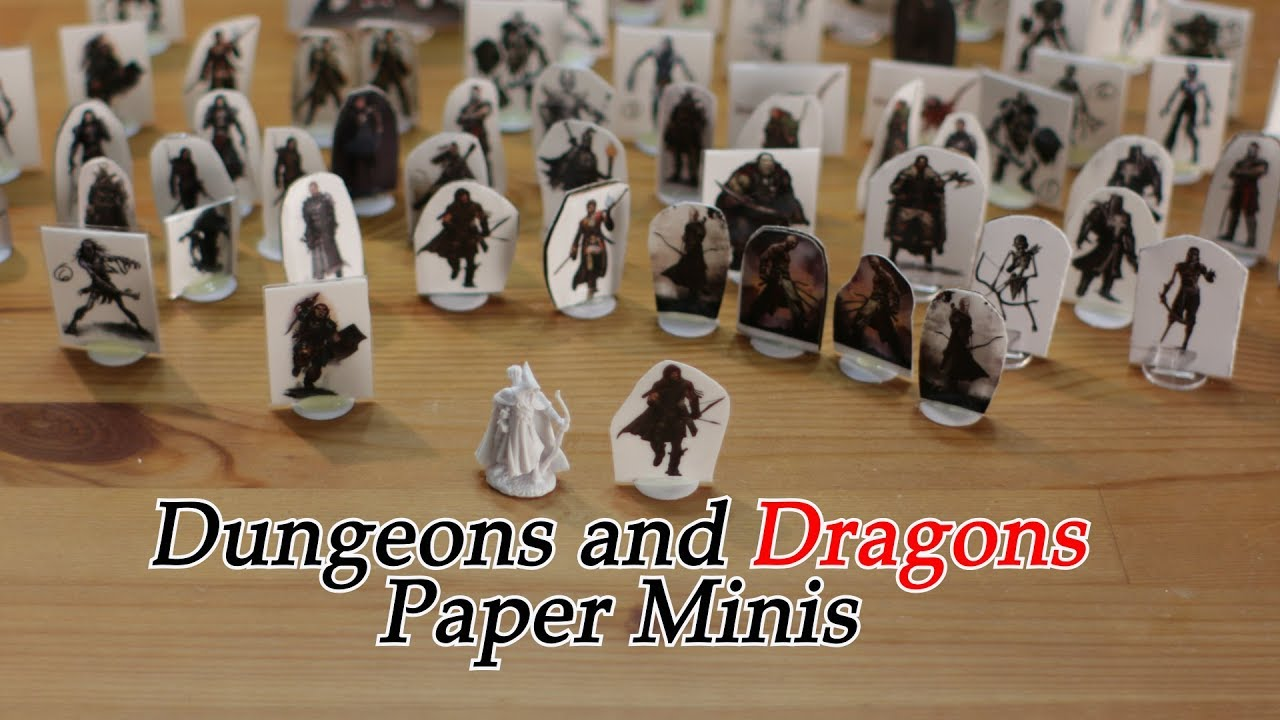 photograph regarding Printable Paper Miniatures known as How in direction of deliver Dungeons and Dragons Paper Miniatures DD Pathfinder Warhammer Minis