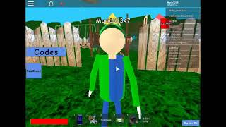 Baldi's Basic's Roleplay sur roblox