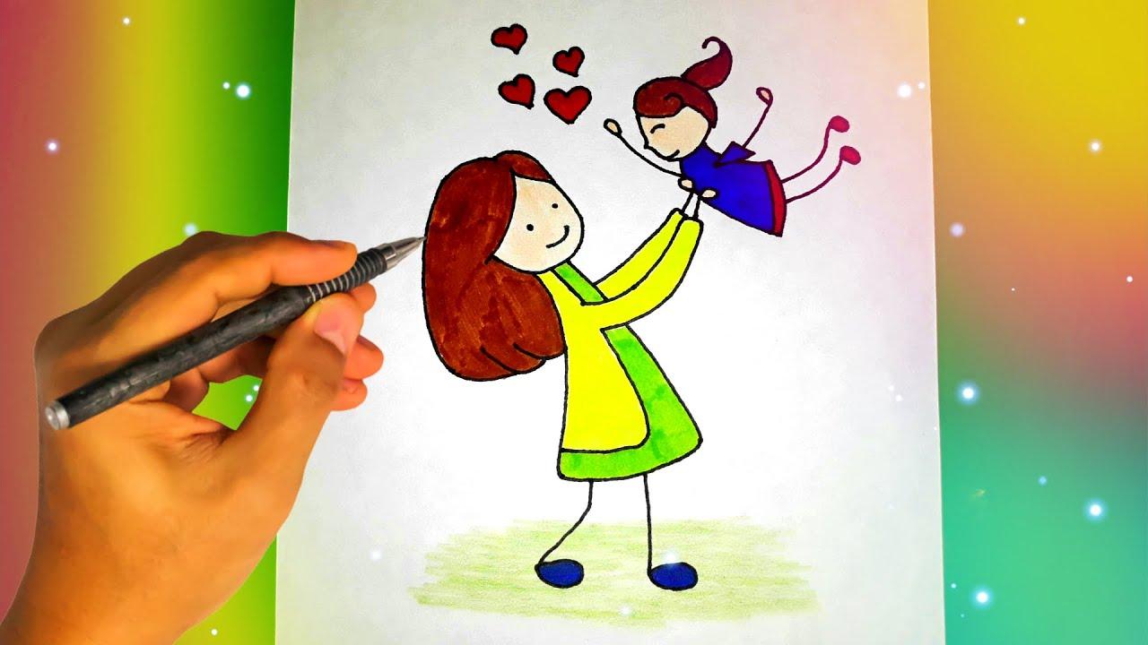 Картинки для срисовки маме и папе