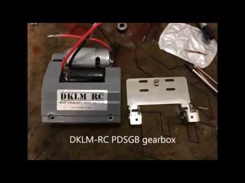 [DK] Propulsion dynamics steel gearbox for 1/16 RC tanks