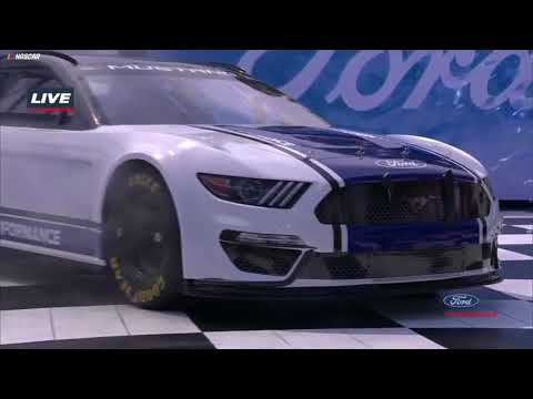 2019 Ford Mustang makes grand entrance with Tony Stewart behind the wheel