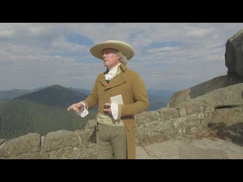 Thomas Jefferson hikes the Peaks of Otter, 2016