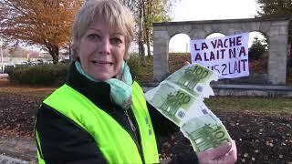 La mobilisation des gilets jaunes à Avallon (89).
