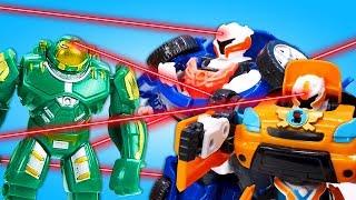 Видео про игрушки из мультфильма: Роботы Тоботы защищают город! Игры с трансформерами