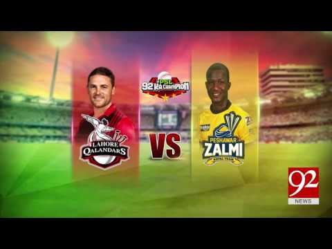 Peshawar Zalmi against Lahore Qalandars in today's match 24-02-2017 - 92NewsHDPlus