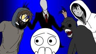 Что делать если вы встретили Джеффа убийцу, Рейка, Тикки Тоби, Слендера? (анимация)