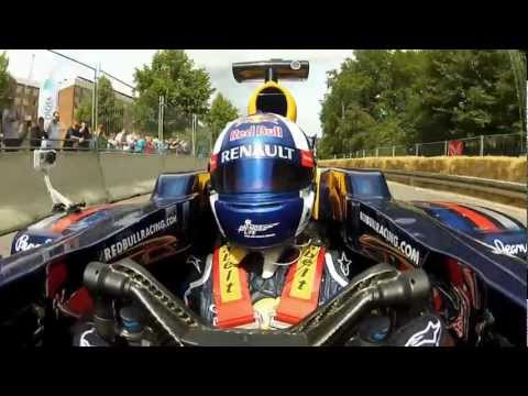 F1 2012 - Red Bull Racing - Coulthard demo at the Copenhagen Historic Grand Prix (long version)