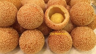 Sesame Balls Recipe - Bánh Cam - Bánh Rán