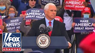 Pence speaks at a 'Make America Great Again Victory Rally' in Reno