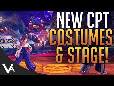 SFV - New CPT Costumes, Stage & Colors Revealed! DLC Update For Street Fighter 5 Arcade Edition