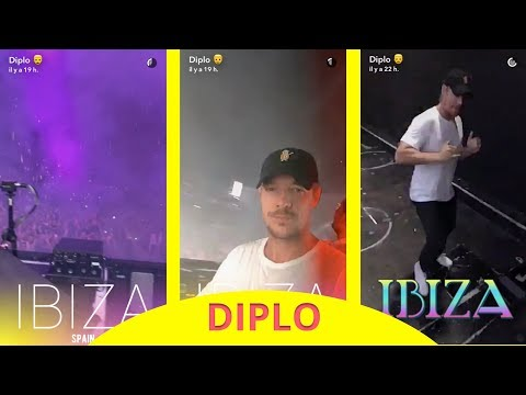 Diplo in Ibiza (Spain) - snapchat - august 16 2017