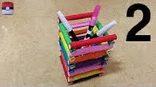729 색종이(연필꽂이) 2 - 2 Pencil Holder papercraft  paper Origami 종이접기 색종이접기 折纸 оригами  摺紙  折り紙  اوريغامي