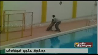 Enter Leopard in Private School at Kundalahalli,Karnataka spl tamil video news 07-02-2016