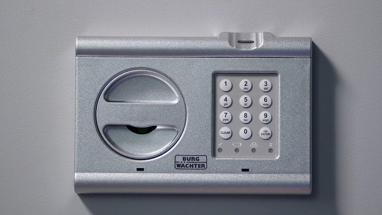 Sehr BURG-WÄCHTER Tresor CombiLine: Code ändern, Fingerscan einlesen MT33