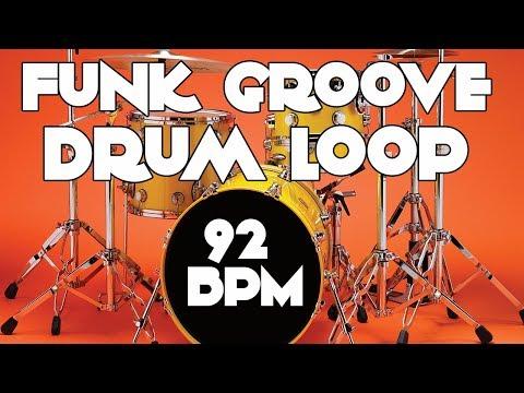 Drum Track - Groove Funk Beat | 92 BPM
