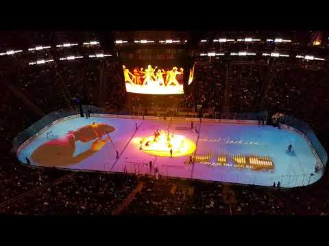 Cirque de Solei performs Michael Jackson One at Golden Knights game