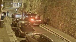 Exeter v Plymouth disorder - King Billy Pub CCTV