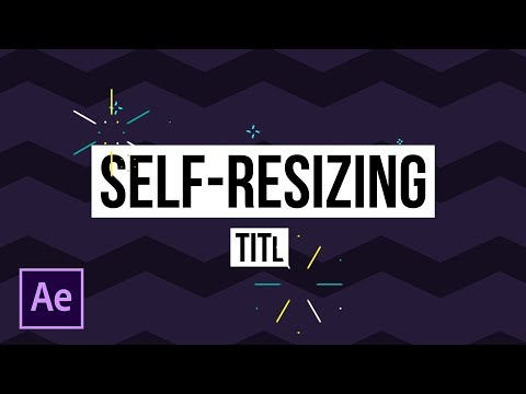 Automated Self-Sizing Title Boxes | After Effects Motion Graphics Tutorial
