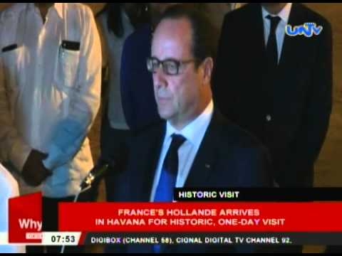 France's Hollande arrives in Havana for historic, one-day visit