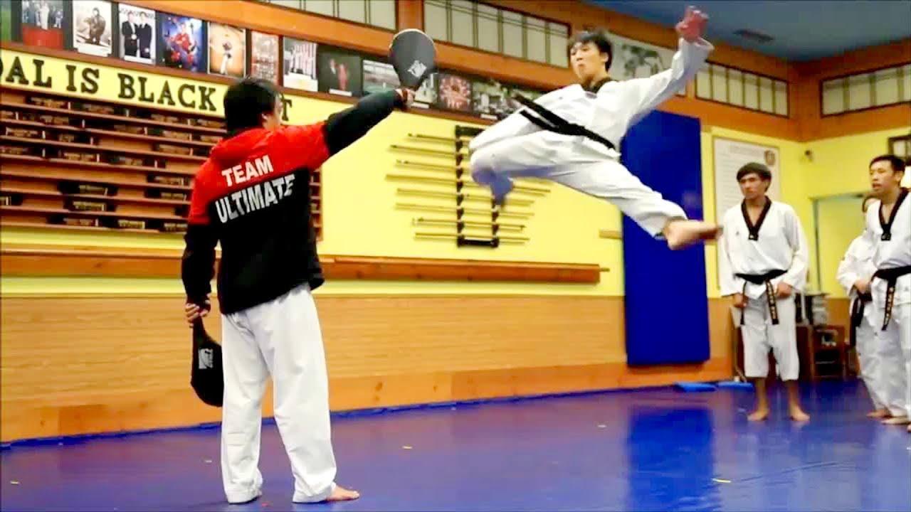 Taekwondo 360, 540, 600, 720, Demonstration & back flips