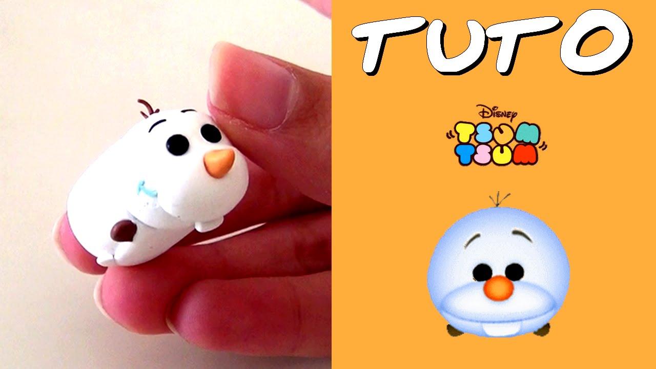 Tuto fimo tsum tsum olaf de la reine des neiges youtube - Olaf de la reine des neige ...
