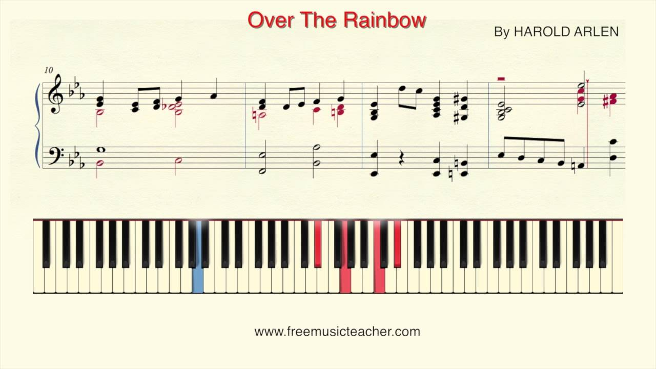 How to play piano over the rainbow by harold arlen piano how to play piano over the rainbow by harold arlen piano tutorial by ramin yousefi free music teacher hexwebz Gallery