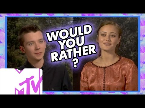 Asa Butterfield & Ella Purnell Play WOULD YOU RATHER: Peculiar Edition! | MTV