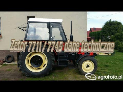 Zetor 7711 / 7745  Dane Techniczne