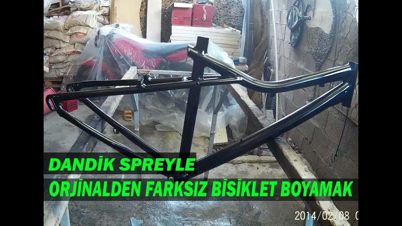 10 Tlye Sprey Boya Ile Bisiklet Boyadik Fena Parladi Youtube