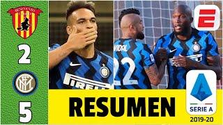 Benevento 2-5 Inter Milan. GOLES de Lukaku y Lautaro Martínez. Jugaron Vidal y Sánchez | Serie A