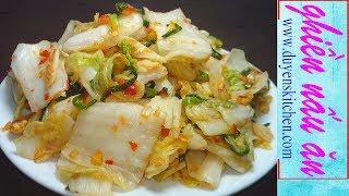 Cách Làm KIM CHI CẢI THẢO Chay Mặn Đều Dùng Được By Duyen's Kitchen | Ghiền Nấu Ăn