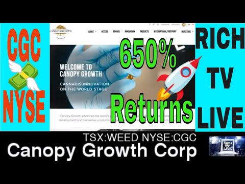 Canopy Growth Corporation Nyse Cgc Tsx Weed Now Trading On The New York Stock Exchange