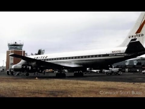"United Douglas DC-8-21 - ""Accidental Landing Troutdale"" - 1962"