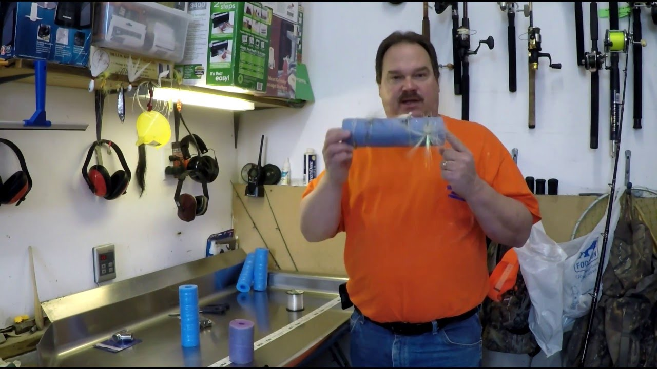 Fishing leader swim noodle hack make your own rig holder for How to make fishing leaders